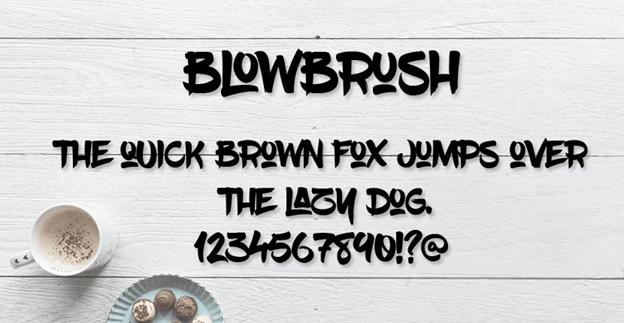 Free font - BlowBrush