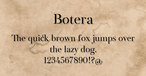 Free font - Botera