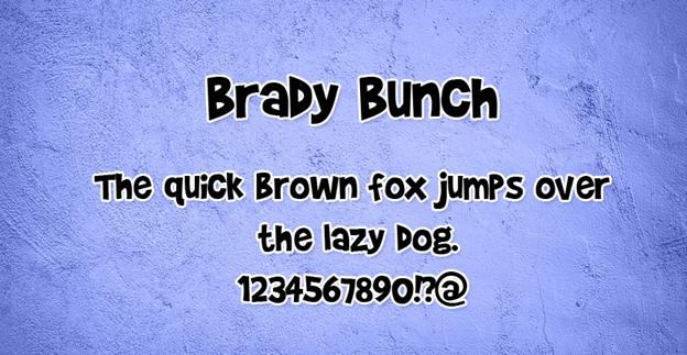 Free font - Brady Bunch