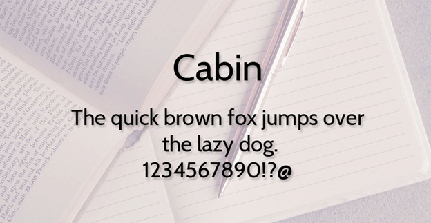 Free font - Cabin