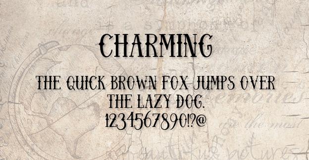 Free font - Charming