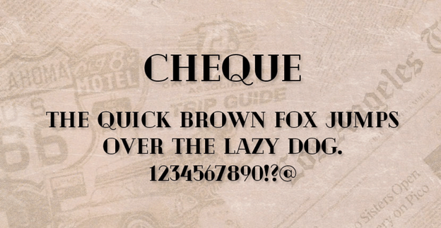 Free font - Cheque