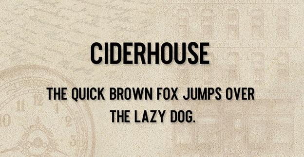 Free font - Ciderhouse