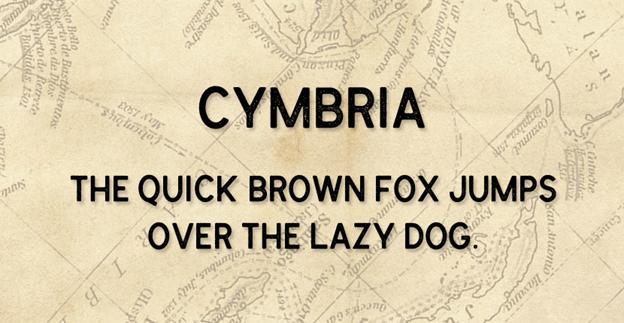Free font - Cymbria