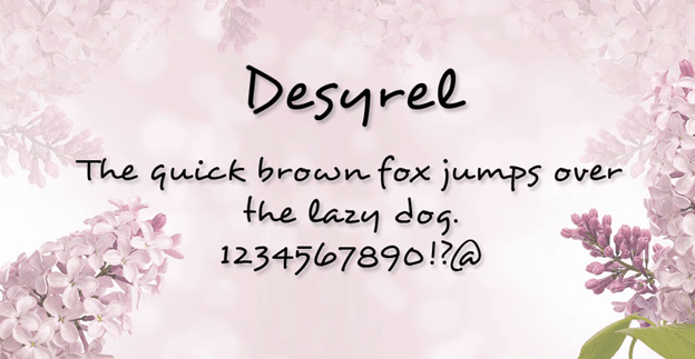 Free font - Desyrel