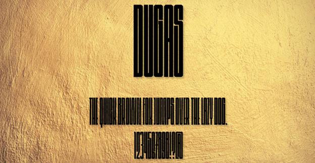 Free font - Dugas