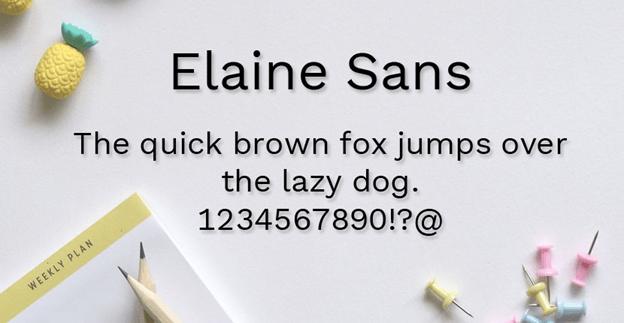 Free font - Elaine Sans