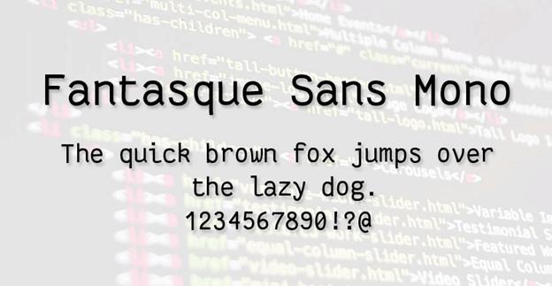 Free font - Fantasque Sans Mono