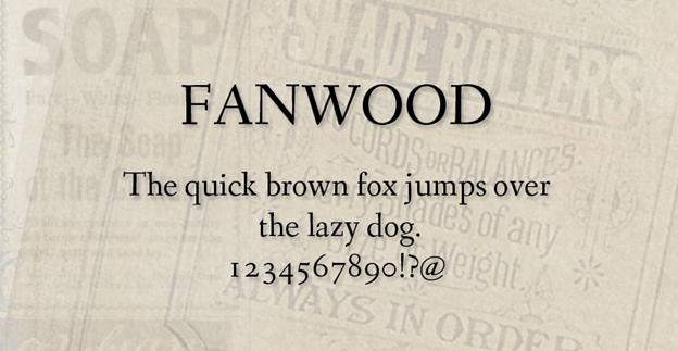 Free font - Fanwood