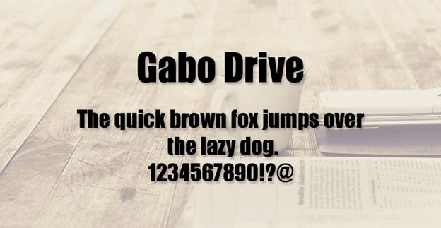 Free font - Gabo Drive