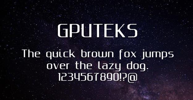 Free font - Gputeks