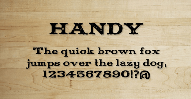 Free font - Handy