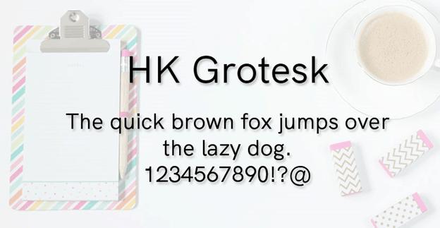 Free font - HK Grotesk