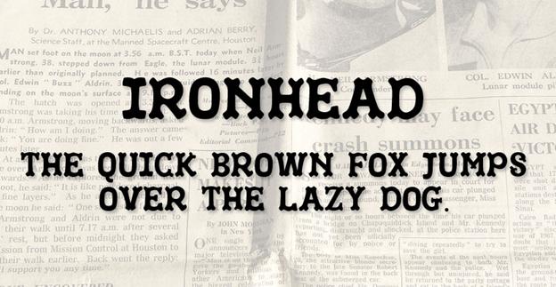 Free font - IronHead