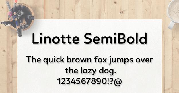 Free font - Linotte SemiBold