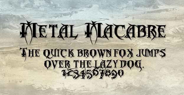 Free font - Metal Macabre