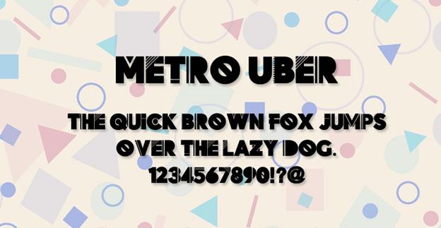 Free font - Metro Uber