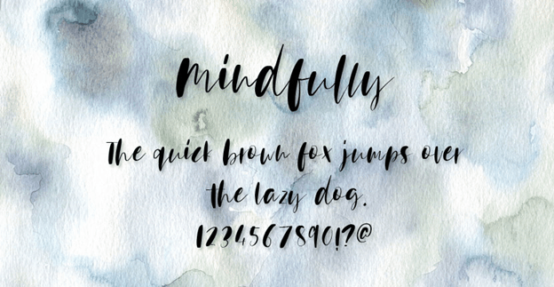 Free font - Mindfully