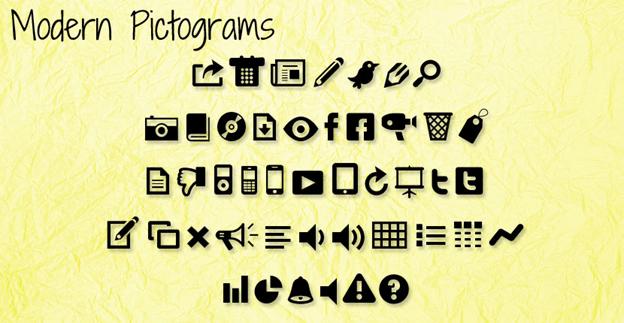 Free font - Modern Pictograms