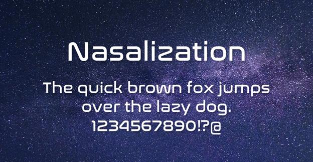 Free font - Nasalization