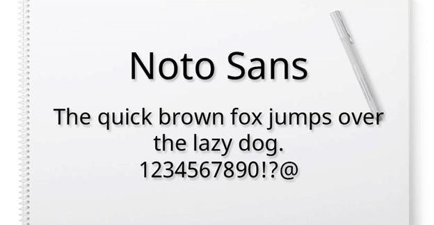 Free font - Noto Sans
