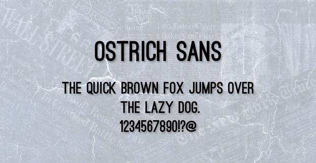 Free font - Ostrich Sans