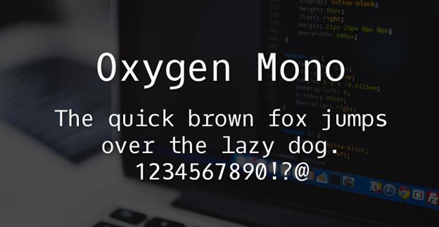 Free font - Oxygen Mono