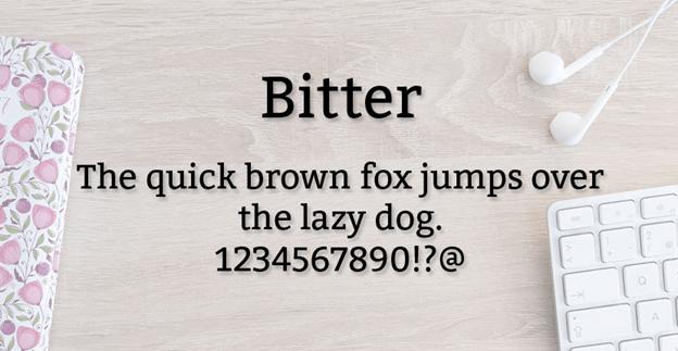 Free font - Bitter