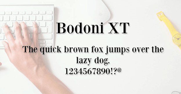 Free front - Bodoni XT