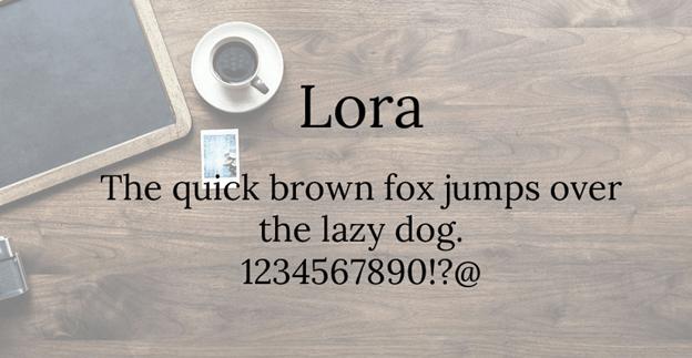 Free font - Lora