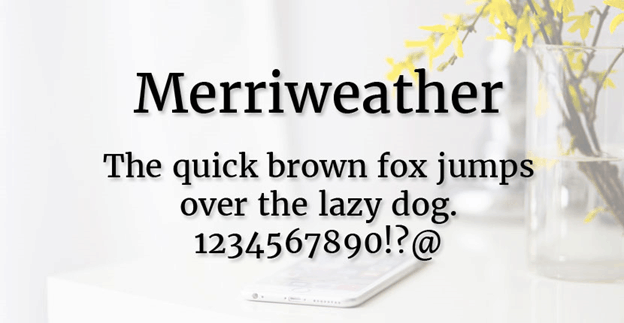 Free font - Merriweather