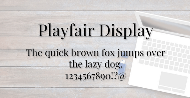 Free font - Playfair Display