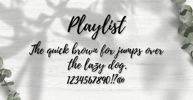 Free font - Playlist