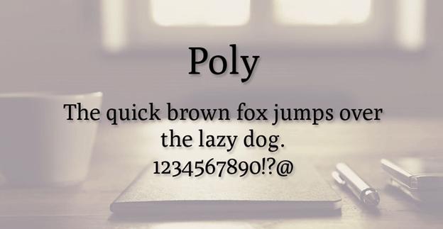 Free font - Poly