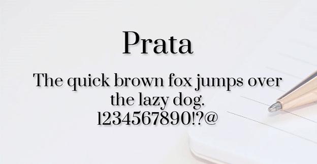 Free font - Prata