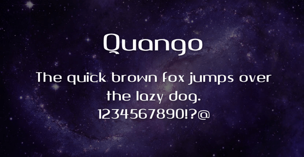 Free font - Quango