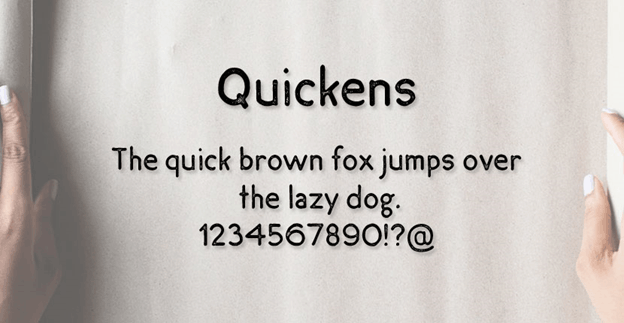 Free font - Quickens