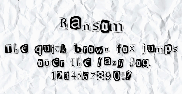 Free font - Ransom