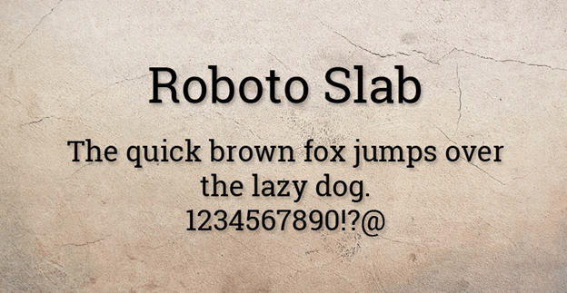 Free font - Roboto Slab