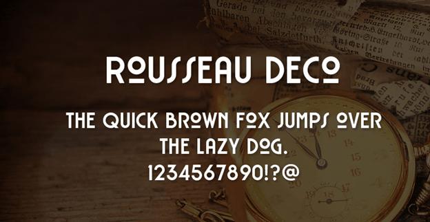 Free font - Rousseau Deco