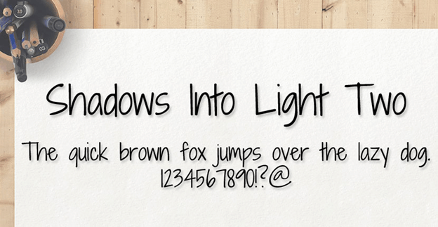 Free font - Shadows Into Light Two