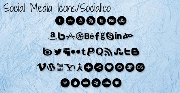 Free font - Social Media Icons/Socialico