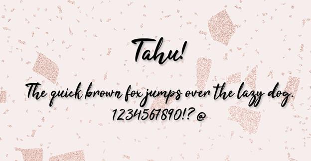 Free font - Tahu!
