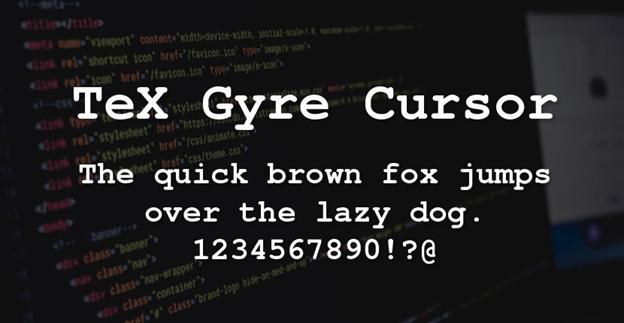 Free font - Tex Gyre Cursor