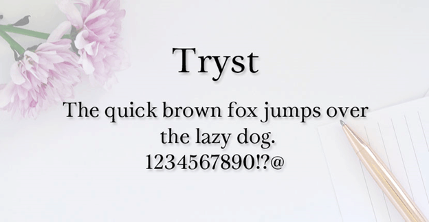 Free font - Tryst