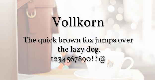 Free font - Vollkorn