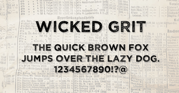 Free font - Wicked Grit