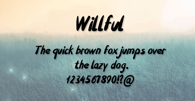 Free font - Willful