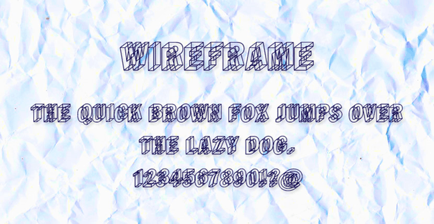 Free font - Wireframe
