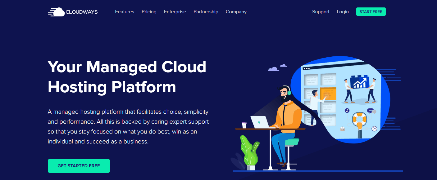 Cloudways Website Homepage